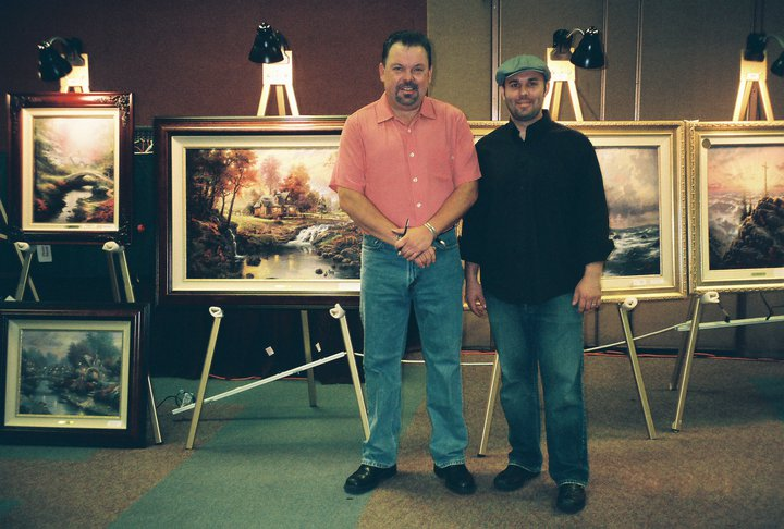 Luke Austin Daugherty with Thomas Kinkade
