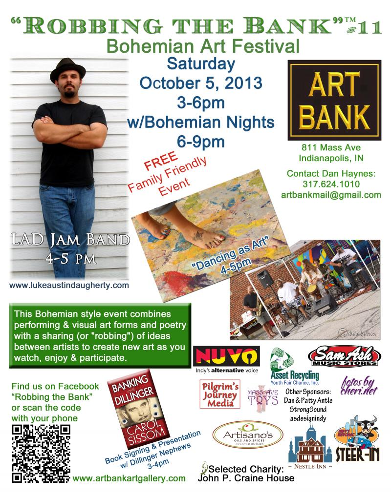 Robbing the Bank Bohemian Art Festival